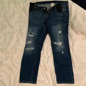 Maternity jeans -side panel